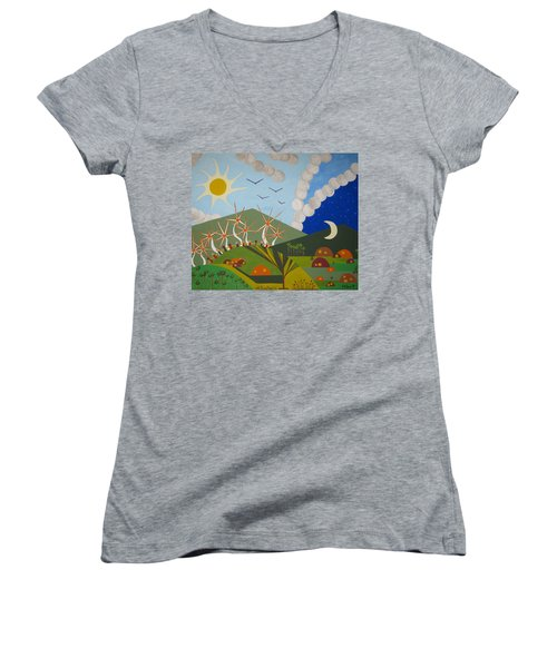 Utopia Women's V-Neck T-Shirt