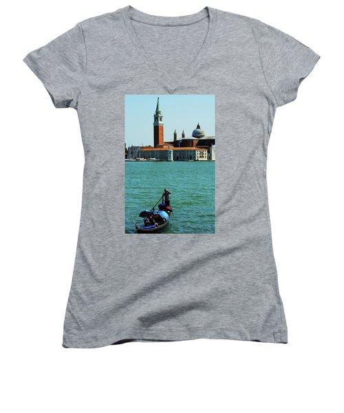 Venice Gandola Women's V-Neck T-Shirt