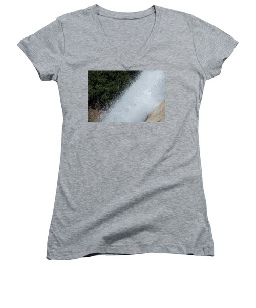 Vernal Falls On The Mist Trail At Yosemite Np Women's V-Neck