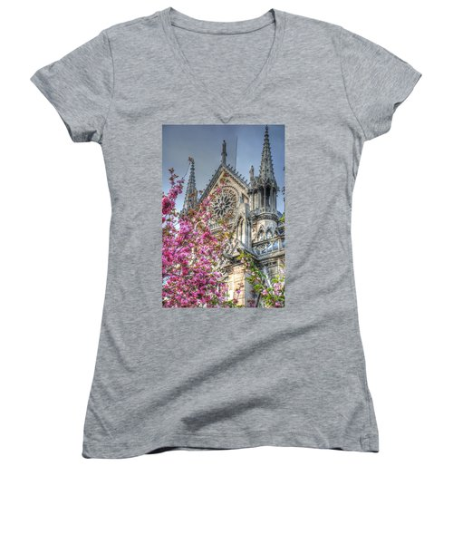 Vibrant Cathedral Women's V-Neck