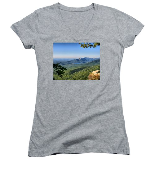 Women's V-Neck T-Shirt (Junior Cut) featuring the photograph View From Caesar's Head by Lynne Jenkins