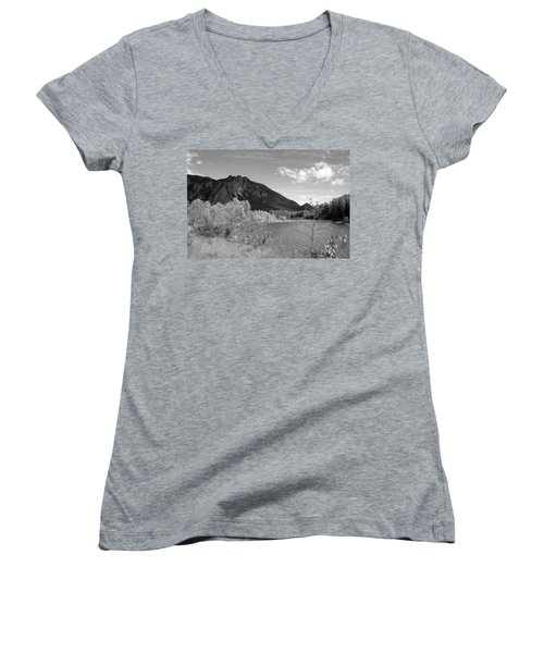 Women's V-Neck T-Shirt (Junior Cut) featuring the photograph View From The River by Kathleen Grace