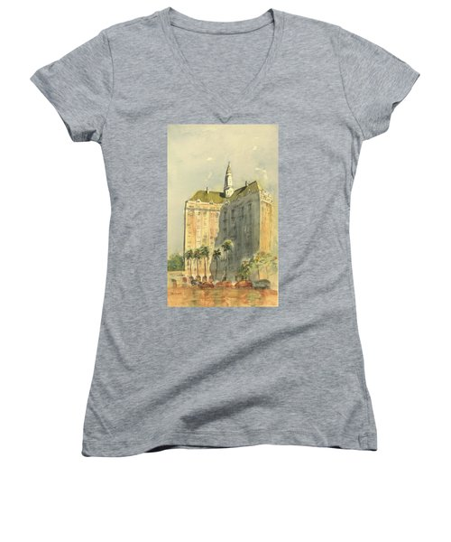 Villa Riviera Another View Women's V-Neck T-Shirt