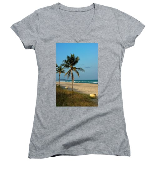 Women's V-Neck T-Shirt (Junior Cut) featuring the photograph Voyage by Joseph Yarbrough