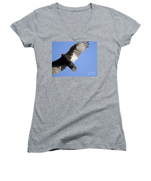 Women's V-Neck T-Shirt (Junior Cut) featuring the photograph Vulture by Jeannette Hunt