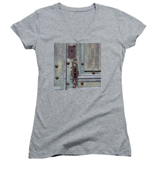 Weathered Women's V-Neck T-Shirt (Junior Cut) by Lainie Wrightson