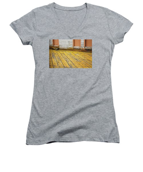 Weathered Monterey Building Women's V-Neck