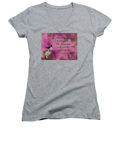 When Life Had Wings Women's V-Neck