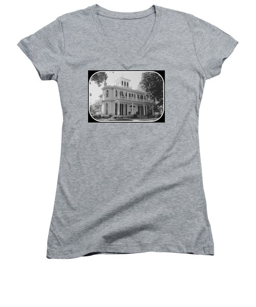 Widow's Walk Women's V-Neck T-Shirt (Junior Cut) by Betty Northcutt