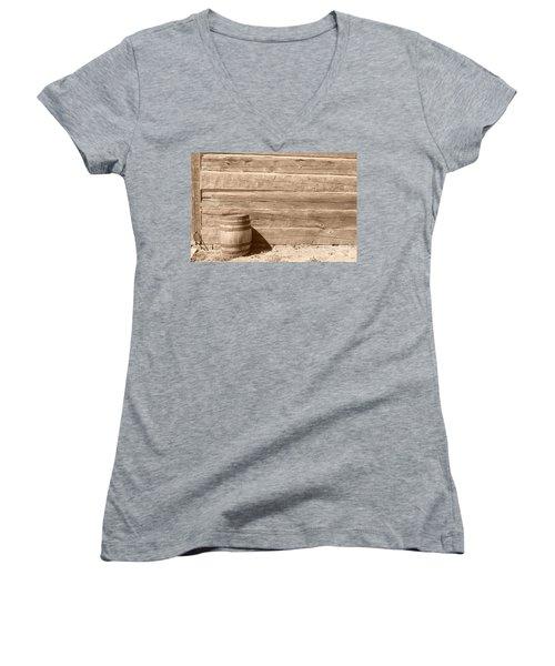 Women's V-Neck T-Shirt (Junior Cut) featuring the photograph Wild West by Joe  Ng