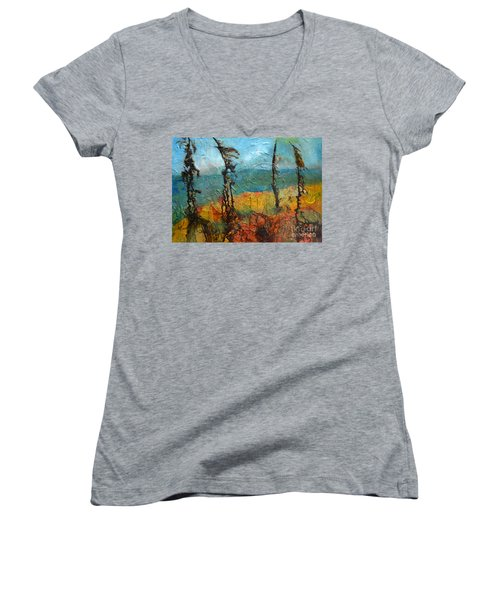 Windswept Pines Women's V-Neck (Athletic Fit)