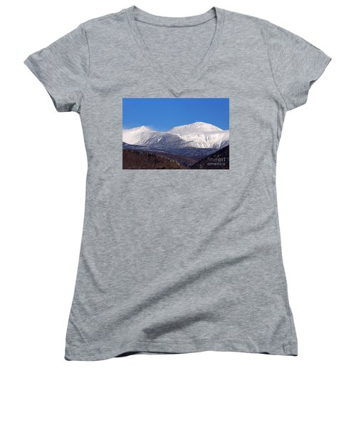 Windy Day At Mt Washington Women's V-Neck (Athletic Fit)