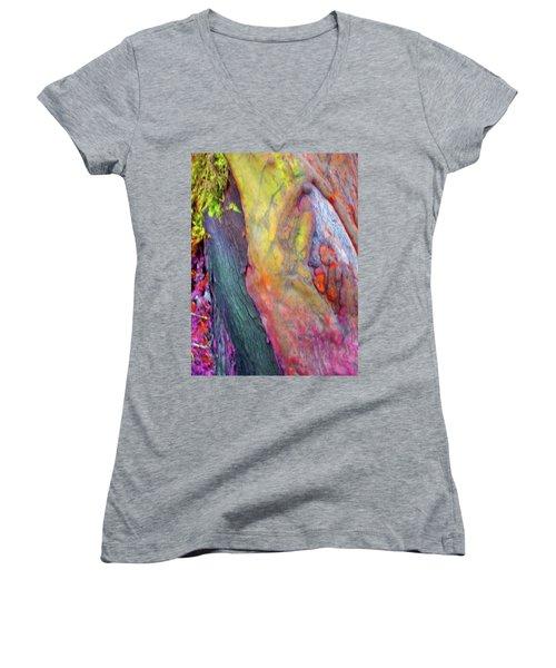 Women's V-Neck T-Shirt (Junior Cut) featuring the digital art Winning Ticket by Richard Laeton