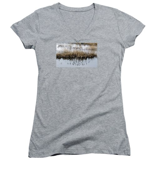 Women's V-Neck T-Shirt (Junior Cut) featuring the photograph Winter Bouquet by I'ina Van Lawick