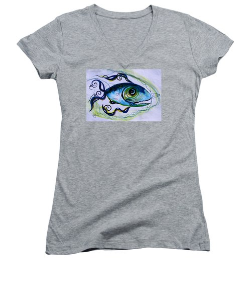 Wtfish 009 Women's V-Neck