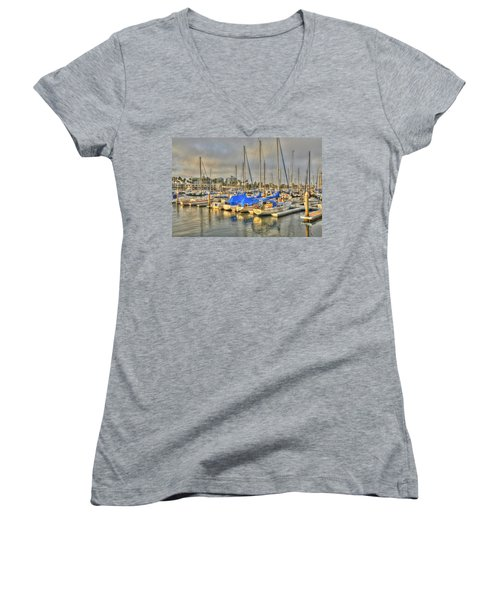 Yachts On A Lazy Afternoon Women's V-Neck (Athletic Fit)