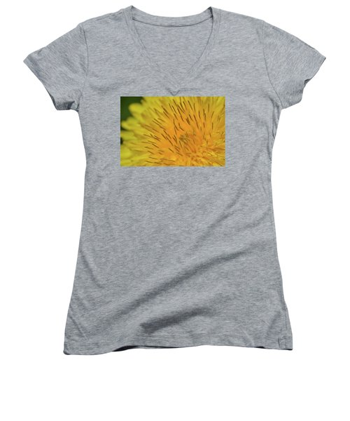 Women's V-Neck T-Shirt (Junior Cut) featuring the photograph Yellow Beauty by JD Grimes