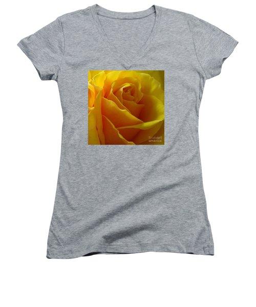 Yellow Rose Of Texas Women's V-Neck T-Shirt (Junior Cut) by Sandra Phryce-Jones