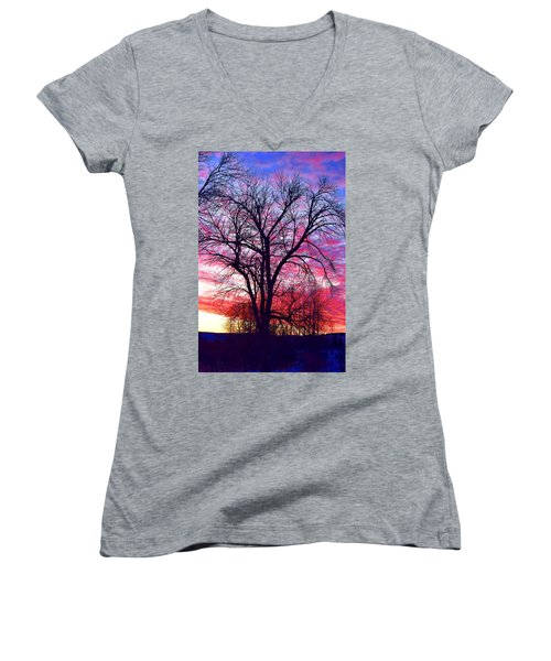 -11 Sunrise Women's V-Neck T-Shirt