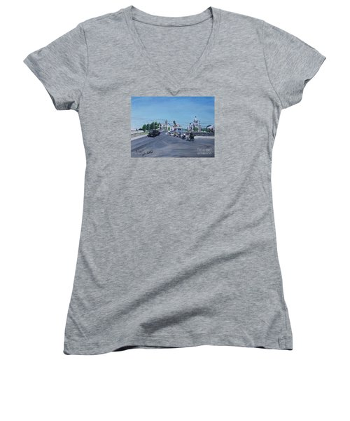 Family Cycling Tour Women's V-Neck T-Shirt