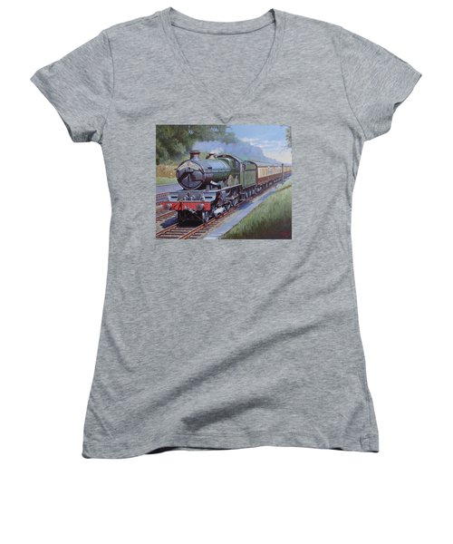 Castle Class In Sonning Cutting Women's V-Neck T-Shirt (Junior Cut) by Mike  Jeffries