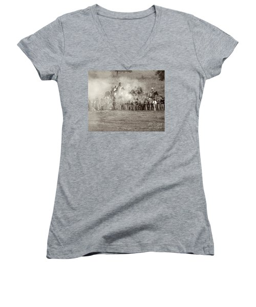 Gettysburg Confederate Infantry 7503s Women's V-Neck (Athletic Fit)