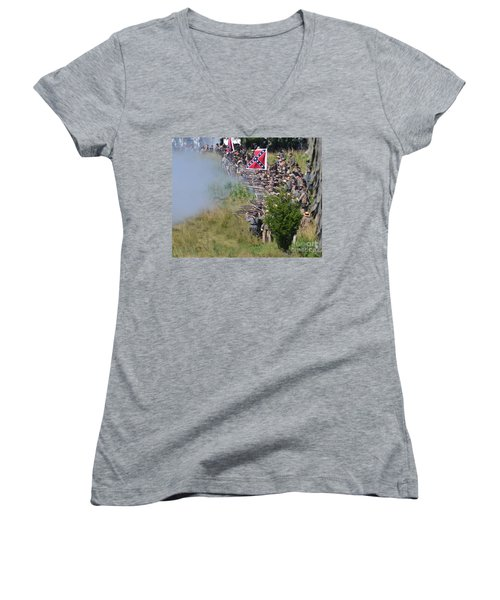 Gettysburg Confederate Infantry 8769c Women's V-Neck (Athletic Fit)