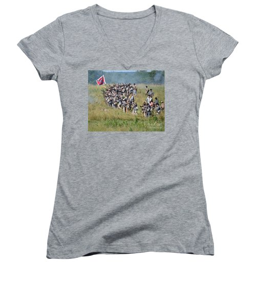 Gettysburg Confederate Infantry 9015c Women's V-Neck (Athletic Fit)
