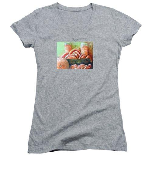 Mandarin Oranges  Women's V-Neck T-Shirt