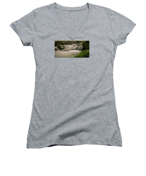 Iao Stream In The Iao Valley State Park Women's V-Neck (Athletic Fit)