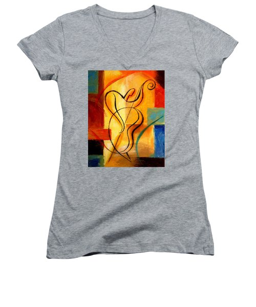 Jazz Fusion Women's V-Neck (Athletic Fit)