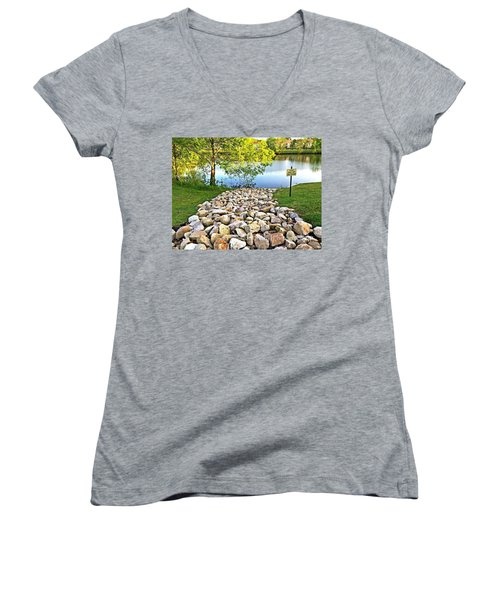 Keep Off The Rocks - No.430 Women's V-Neck (Athletic Fit)