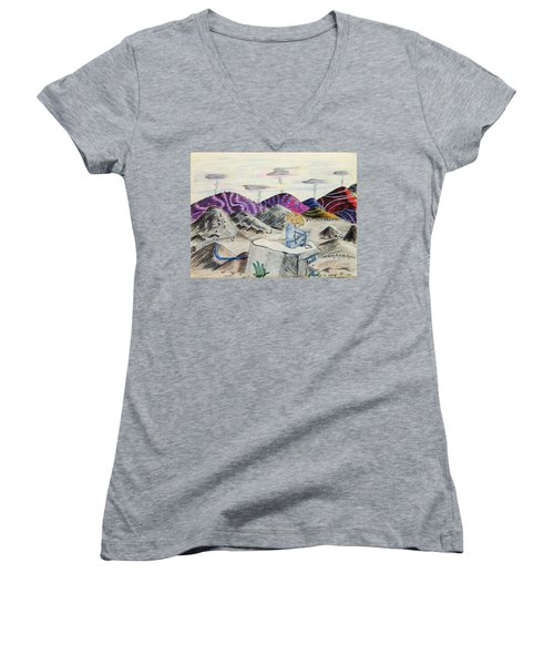 Lost Childhood Women's V-Neck T-Shirt