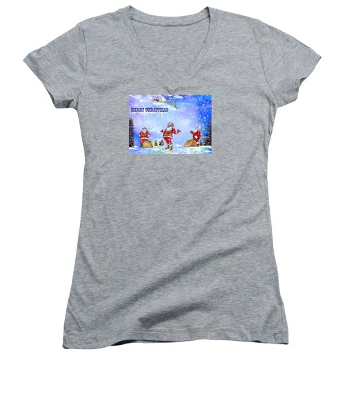 Merry Christmas To My Friends In The Faa Women's V-Neck