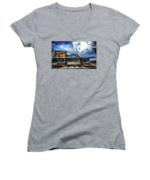 Mustang Drive In Women's V-Neck T-Shirt