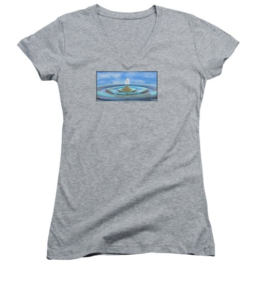 ' Sea Creature Descends ' - Digital Art Format Women's V-Neck T-Shirt (Junior Cut)