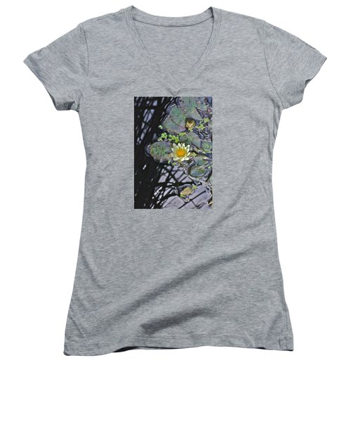 September White Water Lily Women's V-Neck