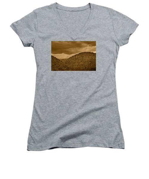 View From A Train Tnt Women's V-Neck