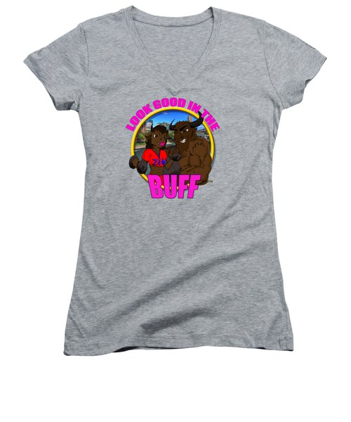 010 Look Good In The Buff Women's V-Neck T-Shirt