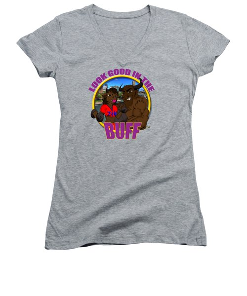 013 Look Good In The Buff Women's V-Neck T-Shirt