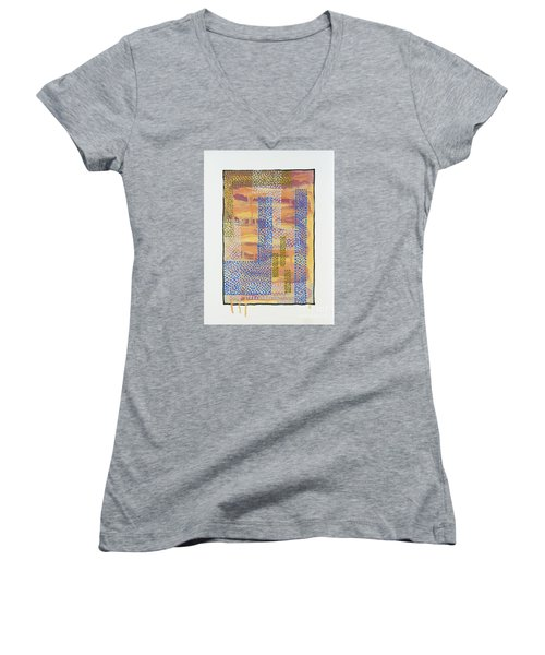 01327 Women's V-Neck T-Shirt (Junior Cut) by AnneKarin Glass