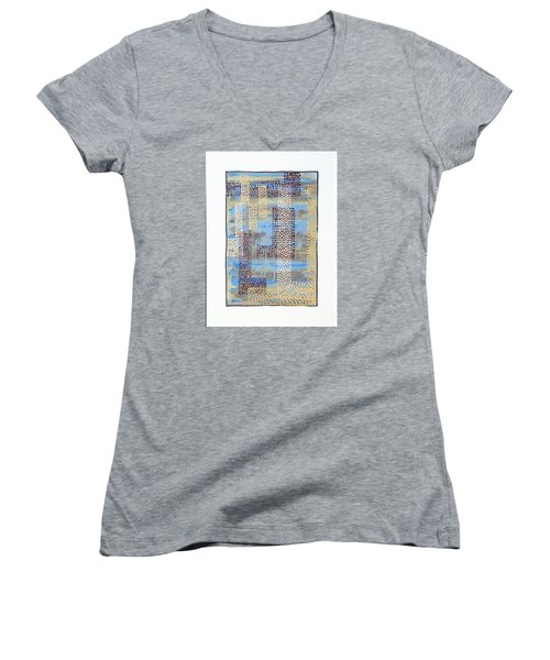 01334 Over Women's V-Neck T-Shirt (Junior Cut) by AnneKarin Glass