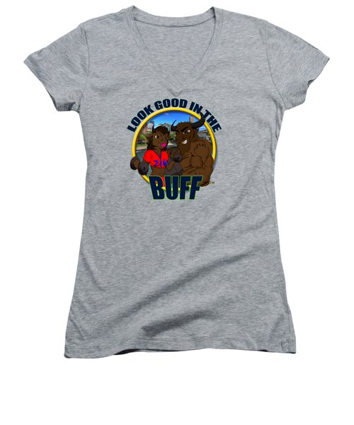 02 Look Good In The Buff Women's V-Neck T-Shirt