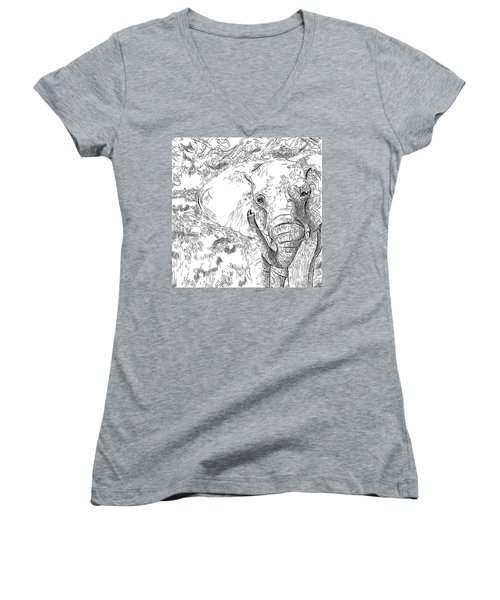 02 Of 30 Elephant Women's V-Neck (Athletic Fit)