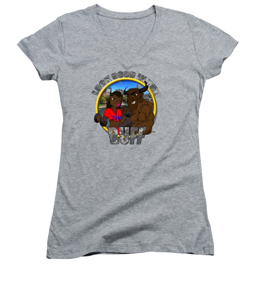 03 Look Good In The Buff Women's V-Neck T-Shirt