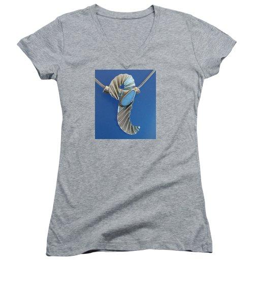0468 Seahorse Women's V-Neck T-Shirt (Junior Cut) by Dianne Brooks