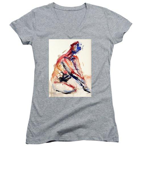 04996 Sunburn Women's V-Neck T-Shirt