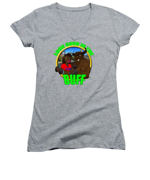 08 Look Good In The Buff Women's V-Neck T-Shirt