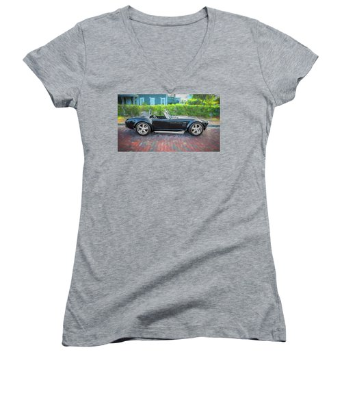 1965 Ford Ac Cobra Painted    Women's V-Neck (Athletic Fit)