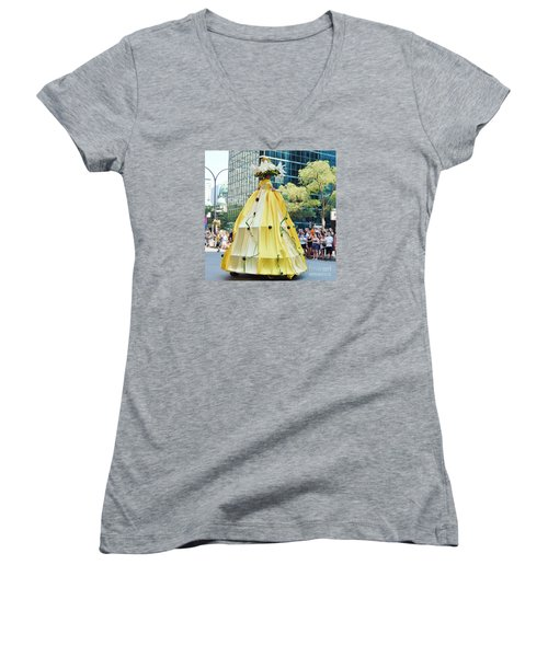 2015 Montreal Lgbta Parade  Women's V-Neck T-Shirt (Junior Cut) by Reb Frost